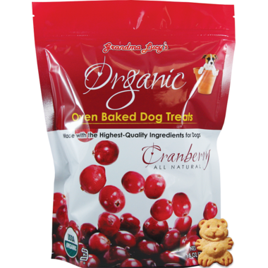 Grandma Lucy\'s Organic Oven Baked Cranberry Dog Treats