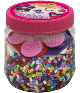 Hama Pink Tub with 4000 Beads & Peg Boards