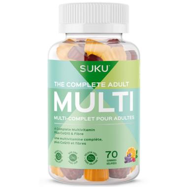 SUKU Vitamins The Complete Adult Multi Plus CoQ10 & Fibre