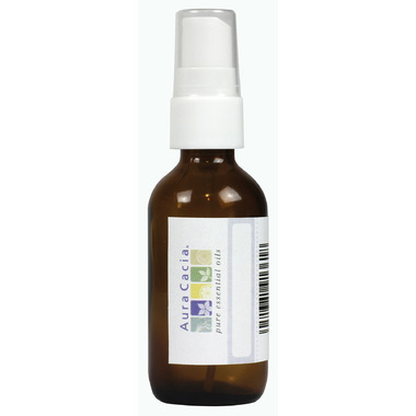 Aura Cacia Amber Glass 2 oz Mister Bottle with Writeable Label