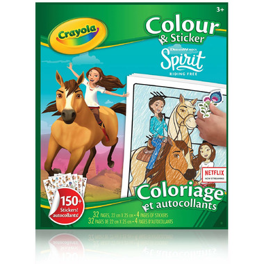 Crayola Colour & Sticker Book Spirit Riding Free