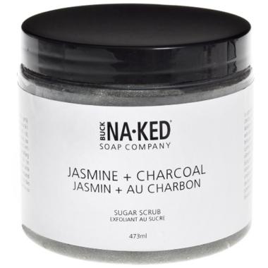 Buck Naked Soap Company Jasmine + Charcoal Sugar Scrub