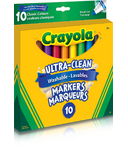 Crayola Ultra-Clean Washable Broad Line Markers Classic Colours
