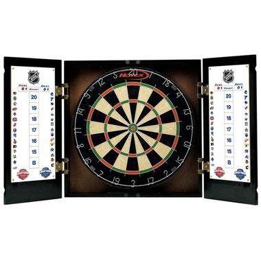 Regent NHL Dartboard U0026 Cabinet Set