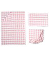 Lolli Living Toddler Sheet Set Kayden Pink Scallop
