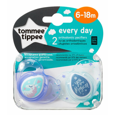 Tommee Tippee Closer to Nature Everyday Pacifier 6-18 Months