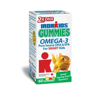 IronKids Gummies Omega-3\'s for Smart Kids