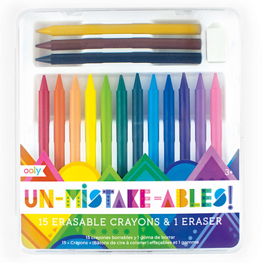 OOLY Un-Mistake-Ables! Erasable Crayons