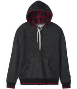 Little Blue House Heritage Men's Full Zip Hoodie Charcoal Moose