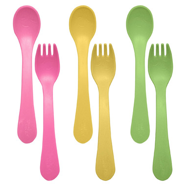 Green Sprouts Sproutware Feeding Fork and Spoon Pink Set