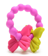 Chewbeads Central Park Teether Fuchsia Butterfly