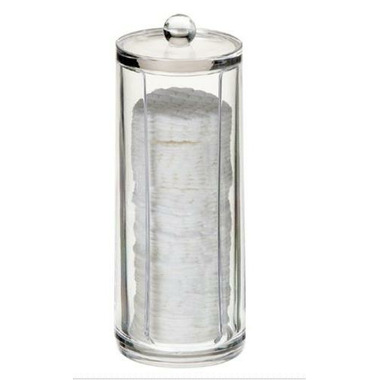 Danielle by Upper Canada Cylinder Acrylic Cotton Pad Holder