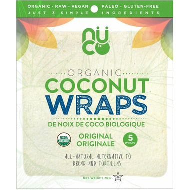 Nuco Organic Coconut Wraps Original