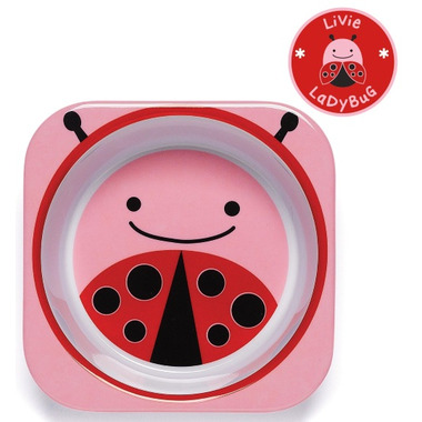 Skip Hop Zoo Tableware Melamine Bowl Lady Bug Design
