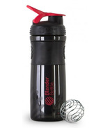 Blender Bottle Sports Mixer Black Red