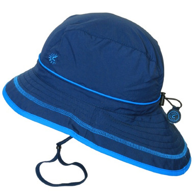 Calikids Quick-Dry Bucket Hat Extra Wide Brim Navy