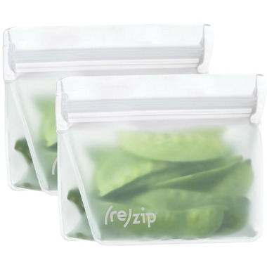 (re)zip Stand-Up 8oz Reusable Snack Bags Clear