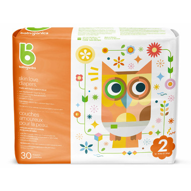 babyganics Skin Love Ultra Absorbent Diapers Size 2
