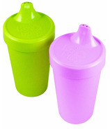 Re-Play Spill Proof Cups Butterfly Purple and Lime Green