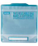 Russbe Reusable Sandwich Bags Statement Blue