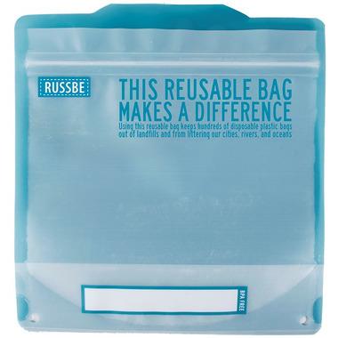 Russbe Reusable Sandwich Bags Statement Blue