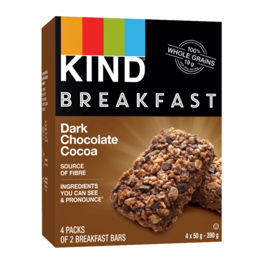 KIND Breakfast Bars Dark Chocolate Cocoa