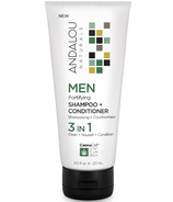 ANDALOU naturals MEN 3-in-1 Fortifying Shampoo & Conditioner