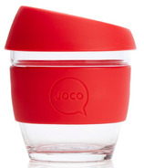 JOCO Glass Reusable Coffee Cup in Red