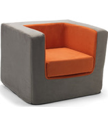 Monte Design Cubino Chair Charcoal & Orange