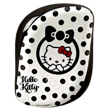 Tangle Teezer Compact Styler Detangling Hairbrush Hello Kitty Black & White