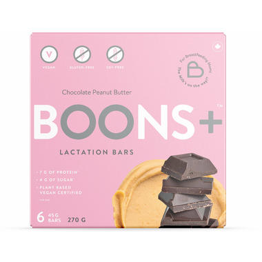 Stork and Dove BOONS+ Chocolate Peanut Butter Lactation Bars