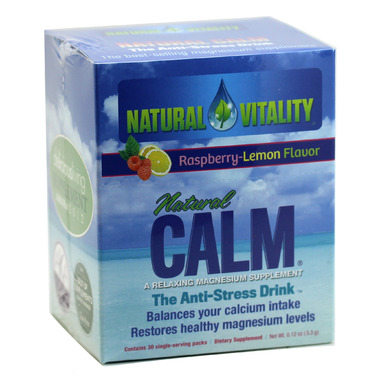 Natural Calm Magnesium Citrate Powder Single Serve Packs