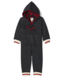Hatley Buffalo Plaid Moose Baby Heritage Full Zip Romper