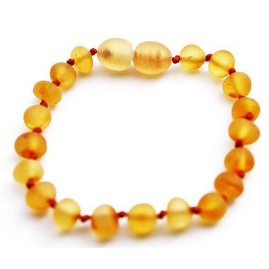 Momma Goose Baby Amber Teething Bracelet Unpolished Honey