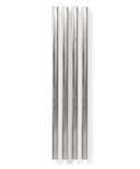 W&P 5 Inch Metal Straws Silver