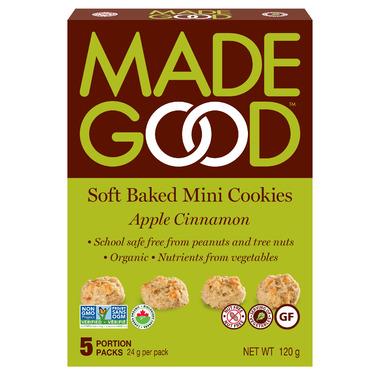 MadeGood Soft Baked Mini Cookies Apple Cinnamon