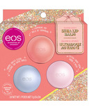eos Holiday Lip Balm Cotton Candy Snow,Caramel Brulee Sleigh,Champagne Pop
