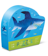 Crocodile Creek 12-Piece Mini Puzzle Shark City