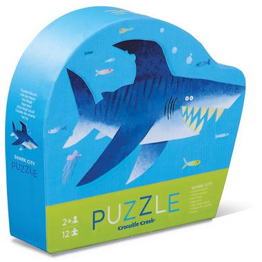Crocodile Creek 12-Piece Mini Puzzle Shark City