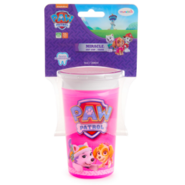 Munchkin Paw Patrol Miracle 360 Sippy Cup Pink