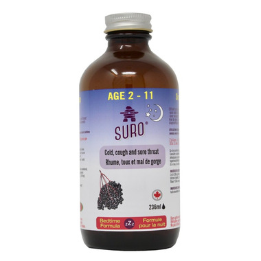 Suro Elderberry Syrup Nighttime for Kids Ages 2-11