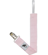 Puffin Gear Pacifier Clip Pink Natty Stripe