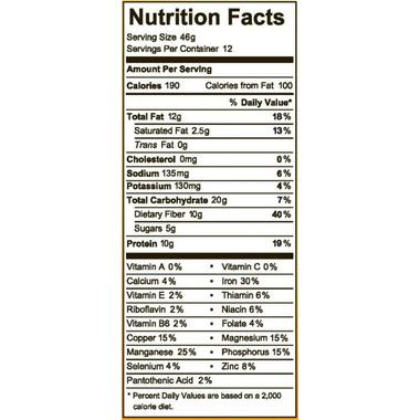 Raw Rev Glo Superfood Bar Mixed Nuts Caramel & Sea Salt