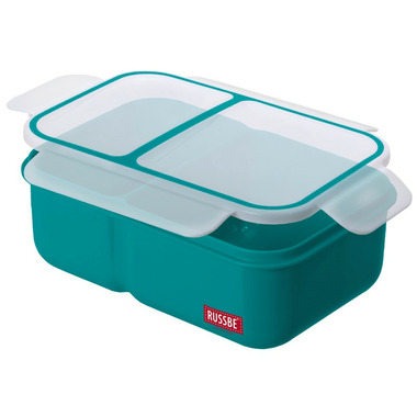 Russbe Inner Seal 2 Compartment Bento Teal