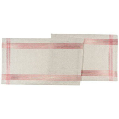 Now Designs Table Runner Flax Poppy