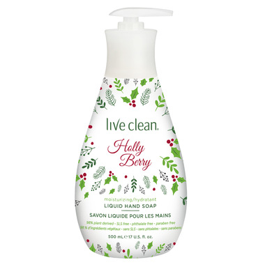 Live Clean Moisturizing Liquid Hand Soap Holly Berry