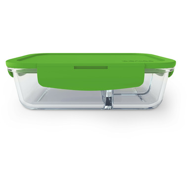 Bentgo Large Glass Container with Leak-Proof Lid Green
