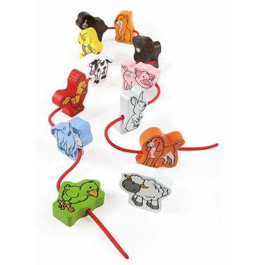 Hape Toys Lacing Farm Livestock