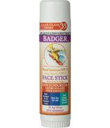 Badger bâton pour visage FPS 35 zinc clair enfants
