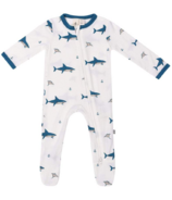 Kyte Baby Printed Zippered Footie Deep Sea
